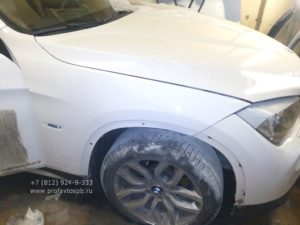 Покраска крыла BMW X1 во Фрунзенском районе СПб