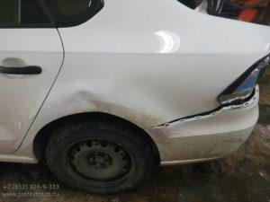 Кузовной и малярный ремонт Volkswagen Polo Sedan во Фрунзенском районе СПб
