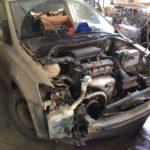 Ремонт VW Polo sedan после ДТП