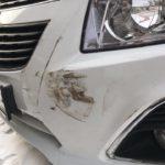 Окраска переднего бампера Chevrolet Cruze