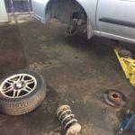 Ремонт передней подвески и замена ступичного подшипника Nissan Almera